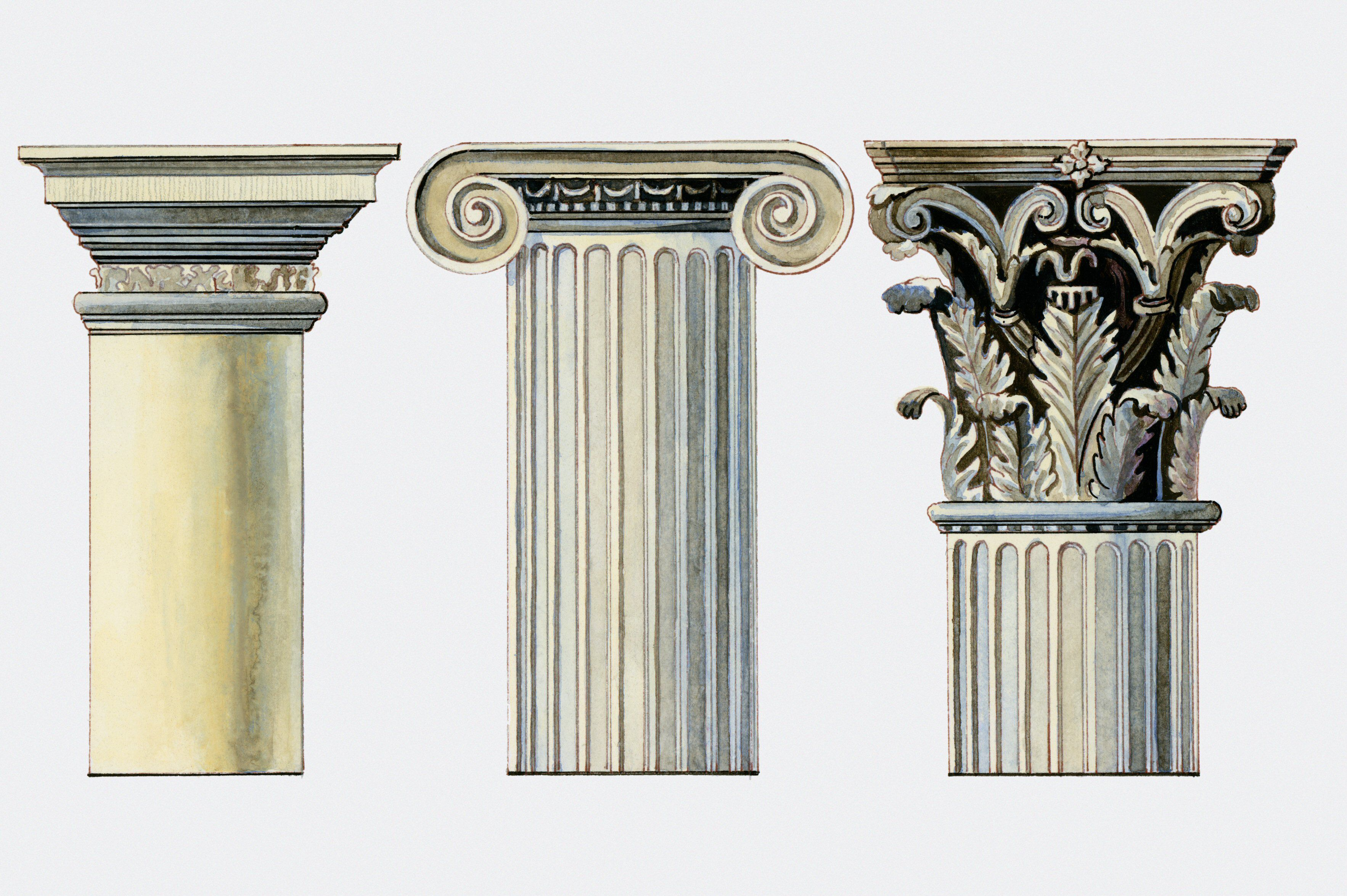 All About Types Of Columns Ancient Greek Architecture Architectural Columns Greek Culture