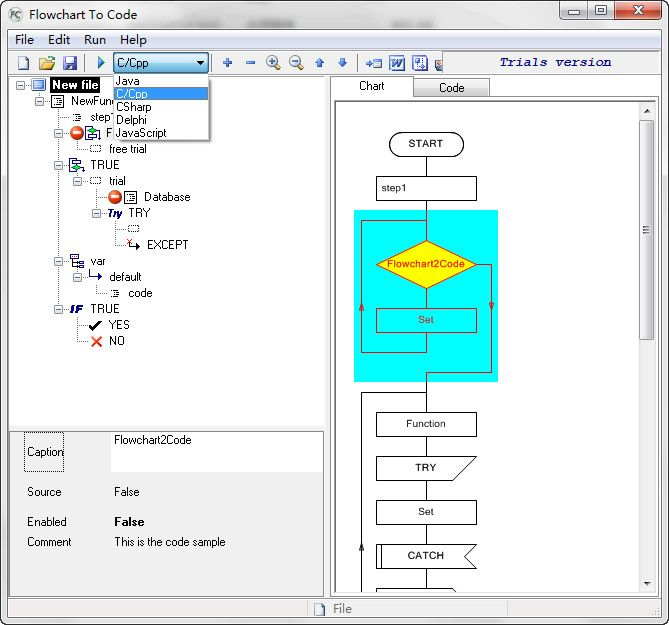 AthTek Flowchart to Code is an advanced programming tool for