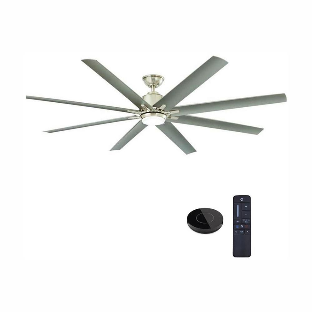 Home Decorators Collection Kensgrove 72 In Led Indoor Outdoor Brushed Nickel Ceiling Fan With Light Kit Works With Google Assistant And Alexa Yg493od Bn The Ceiling Fan With Light Brushed Nickel Ceiling