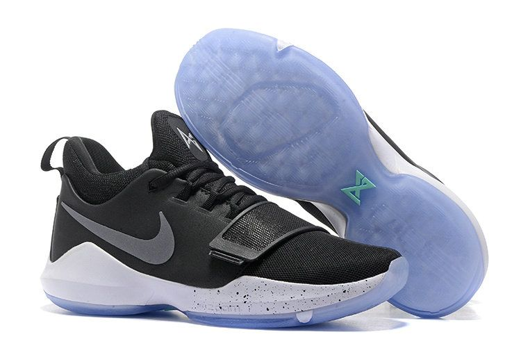 hot sale online b4d2f 2cc7c June Latest New Arrival Nike PG 1 Paul George Sneakers 2017 Black ICE Cheap  For Sale