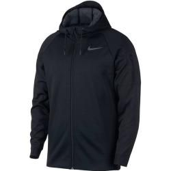 Photo of Nike men's sweat jacket Therma, size L in black / anthracite / mtlc Hematite, size L in black / anthracite