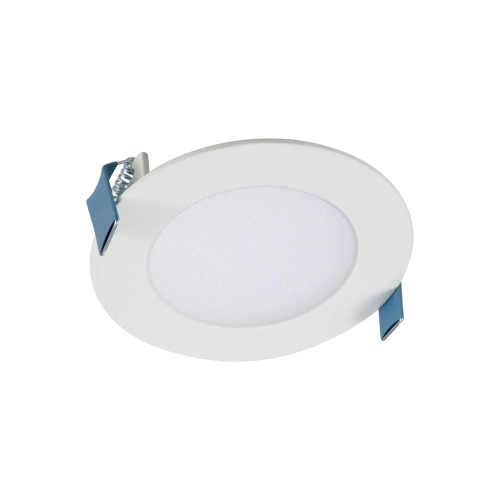 Halo Hlb 4 In Selectable Cct New Construction Or Remodel Canless Recessed Integrated Led Kit Hlb4069fs1emwr The Home Depot In 2020 Recessed Lighting Recessed Lighting Kits Installing Recessed Lighting
