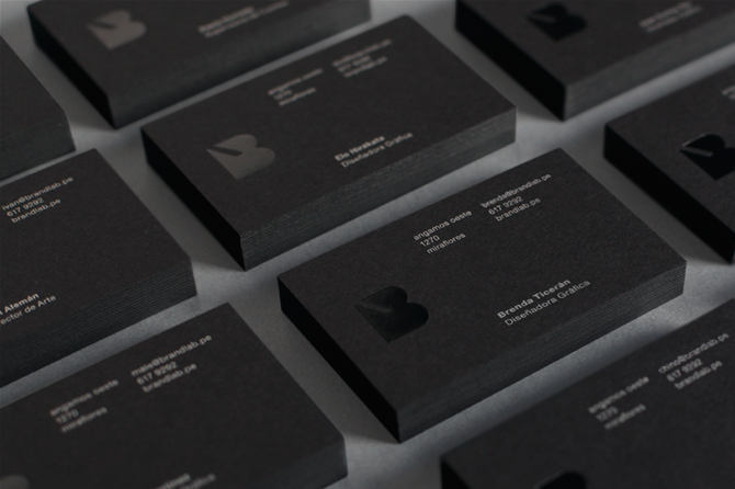 Brandlab Business Cards With Black Block Foil Detail Business Cards Creative Name Card Design Business Card Design