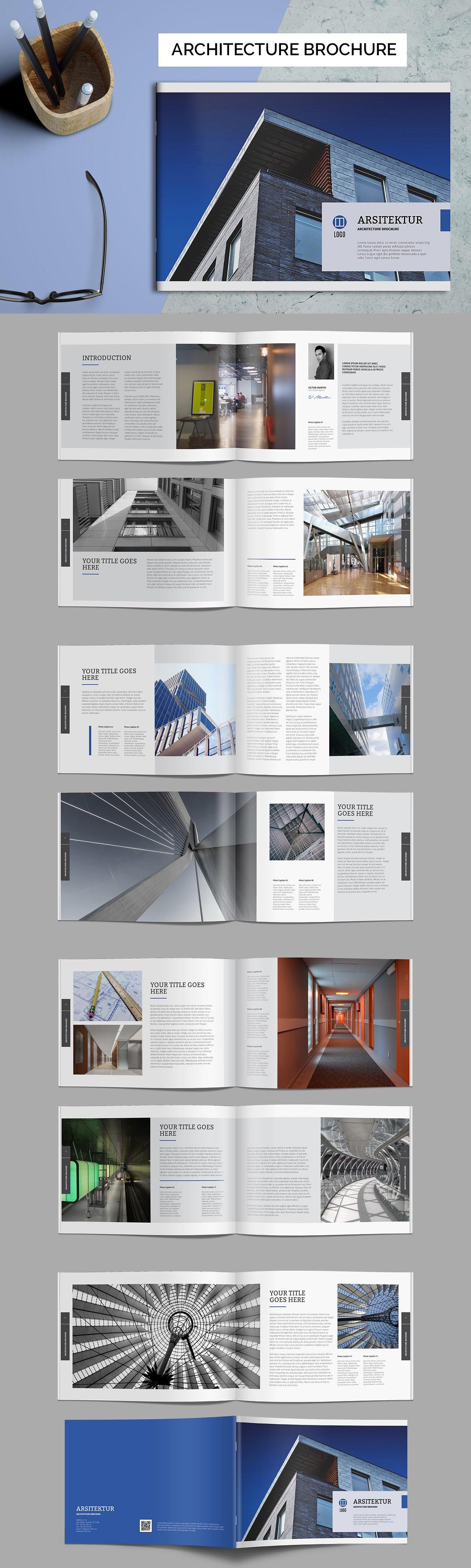 Architecture Brochure Template Pdf Indd Brochure Design Templates