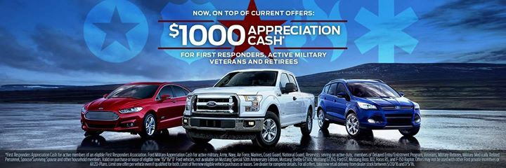 Now On Top Of Current Offers Military And First Responders Receive