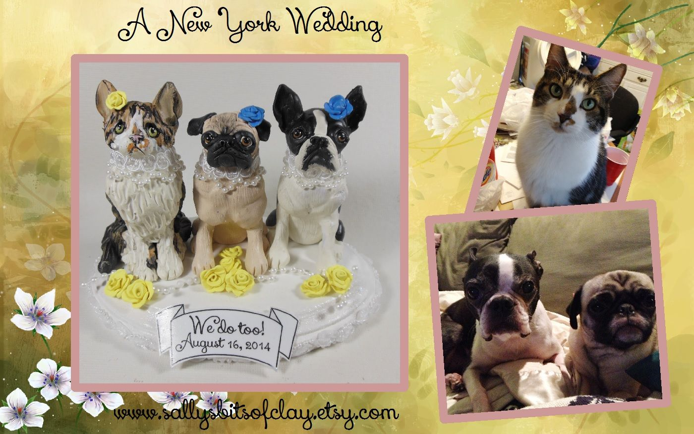 A new york wedding with pug and cats llysbitsofclay