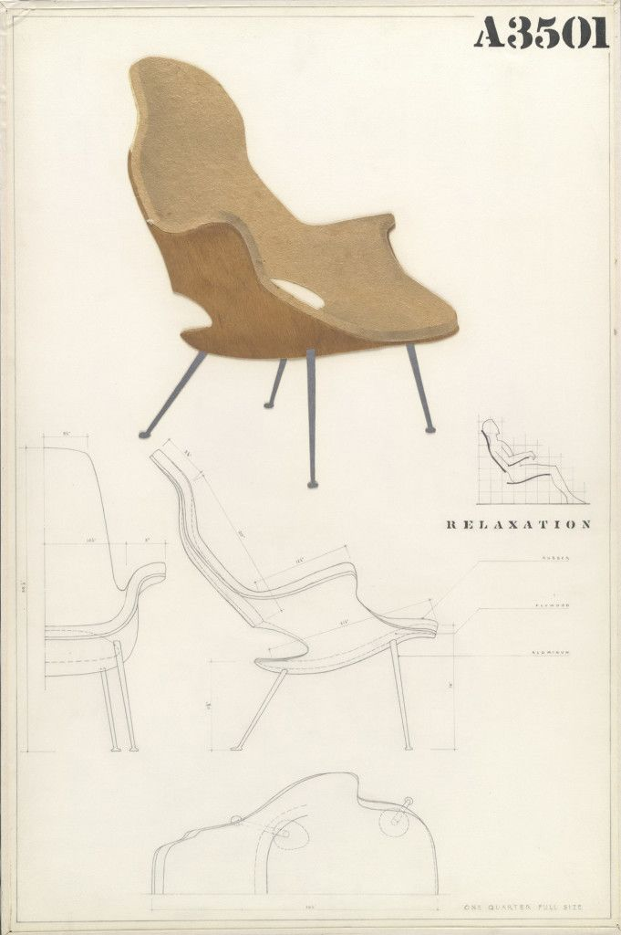 Organic Chair by Eero Saarinen and Charles Eames, @museummodernart ...
