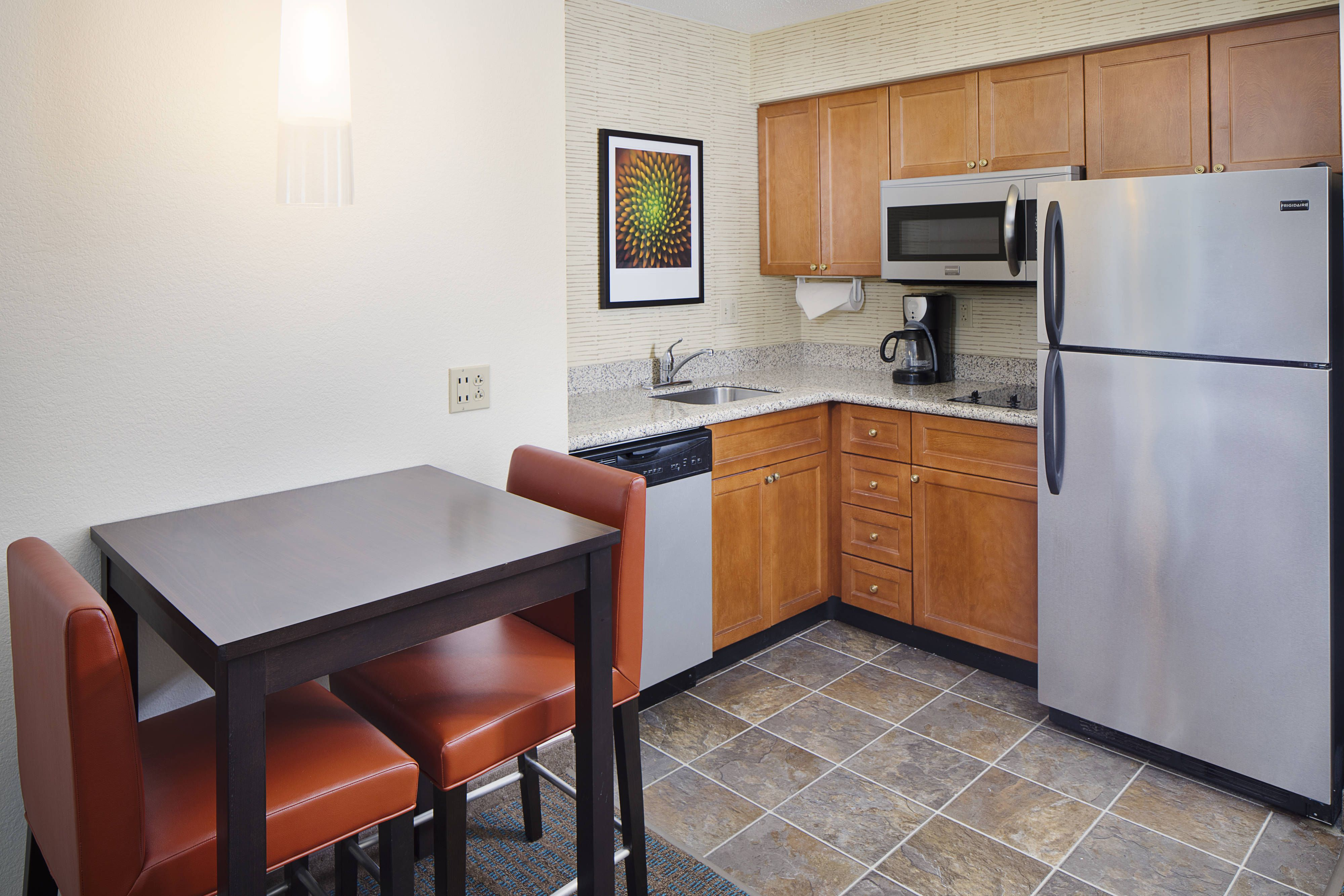 Residence inn saddle river suite kitchen happy relax