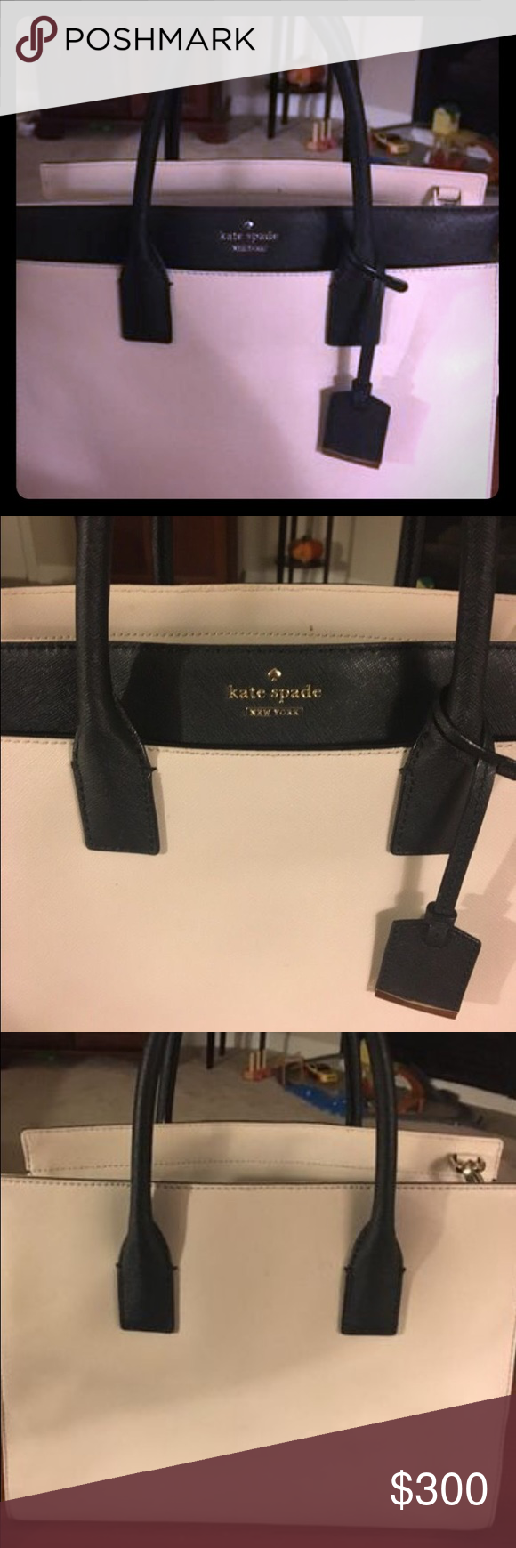 Kate Spade Cameron bag Kate Spade Cameron bag linen and cement black kate spade Bags Satchels