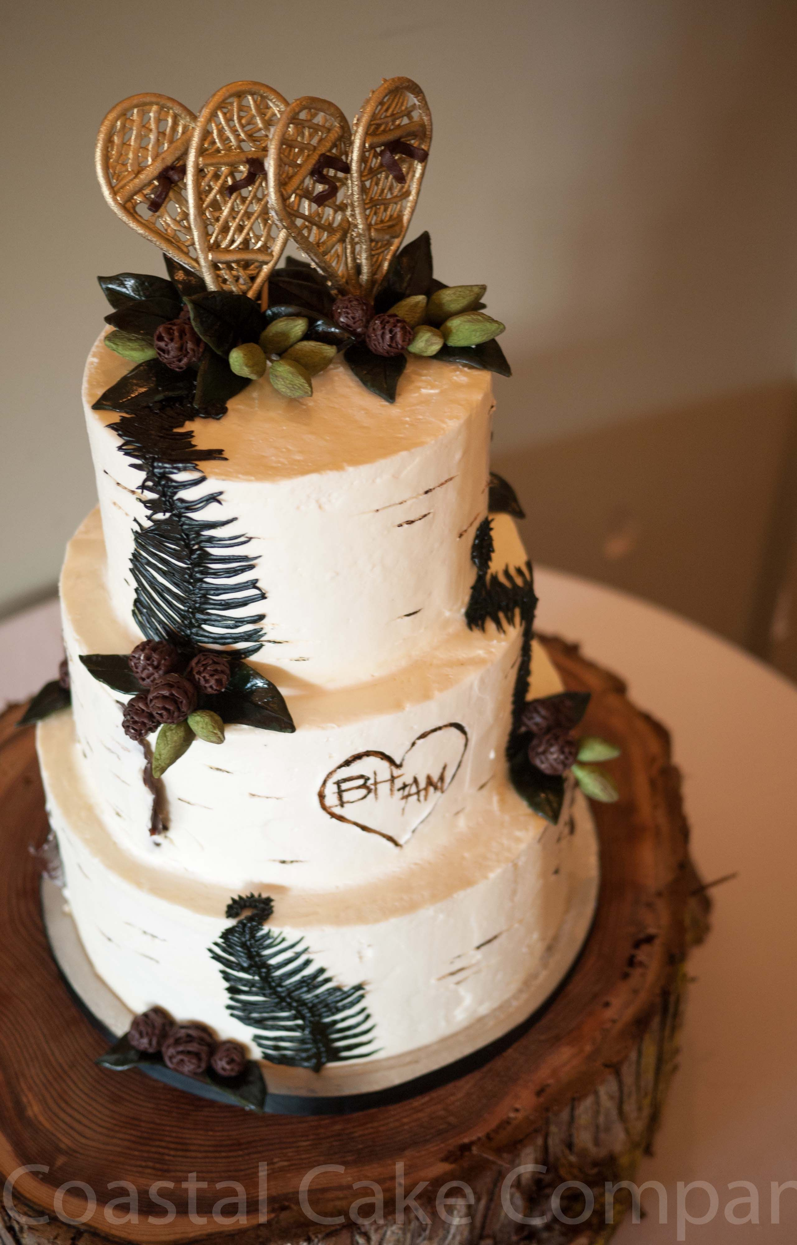 forest inspired wedding cakes forest snowshoe themed cake coastal cake company cakes 14406