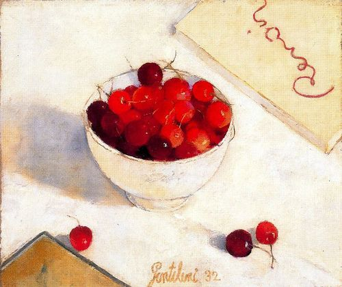 Gentilini, Franco (1909-1981) - 1932 Cup of Cherries (Private Collection) by RasMarley on Flickr. Oil on canvas; 29 x 35 cm.