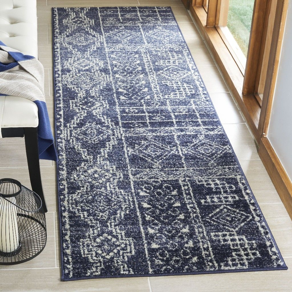 Adirondack Collection 2 6 X 8 Rug In Navy And Silver Safavieh Adr206n 28 Area Rugs Rugs Colorful Rugs