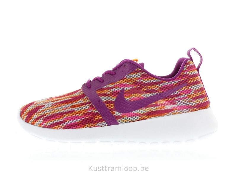Nike Roshe Run Vol Poids GS Blanc / Gras Berry Total Orange-Rose Pow  Huarache