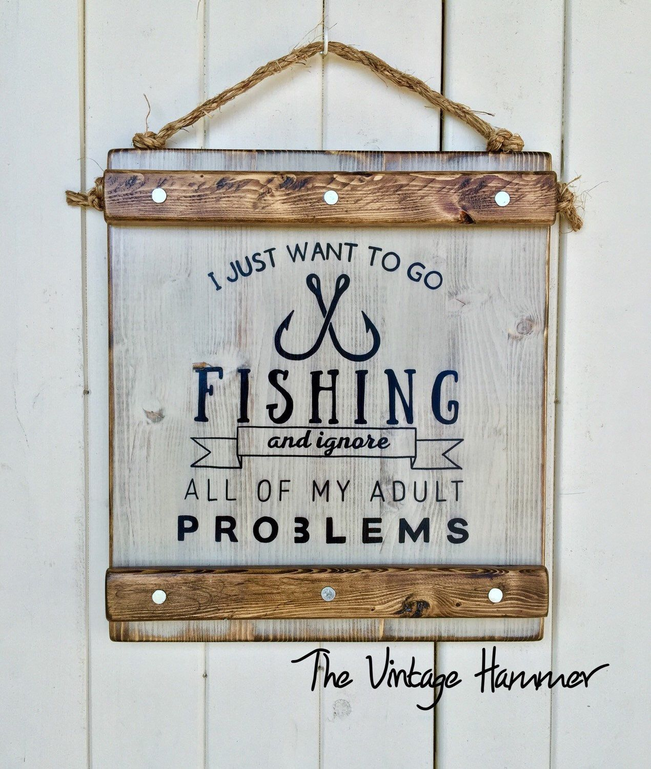 Fishing Sign, wood sign sayings, wall art, hand painted, cabin sign ...
