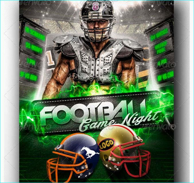 Football Game Night Flyer Template Party Flyer Templates For Clubs
