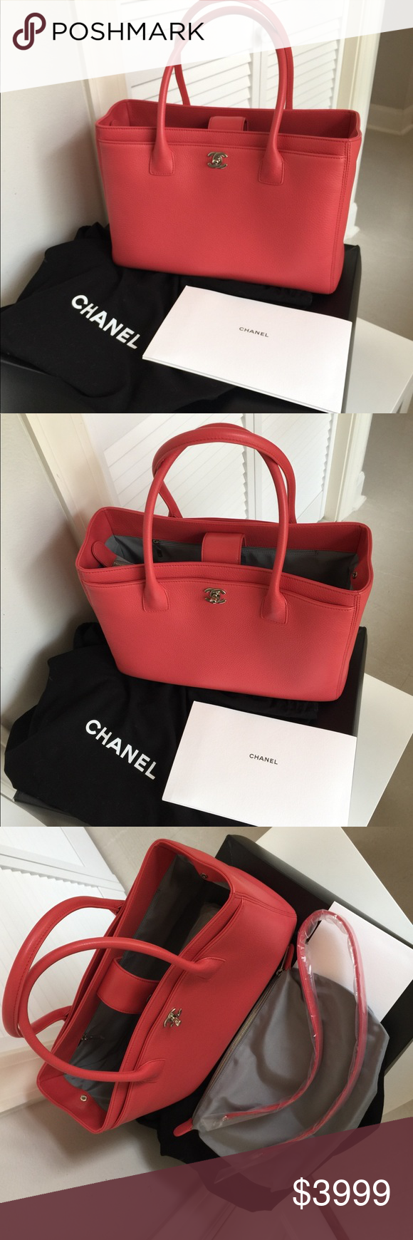 e2a965cf74 CHANEL Large Executive Cerf Grand Shopping Tote Only carried once, like  new. 100%