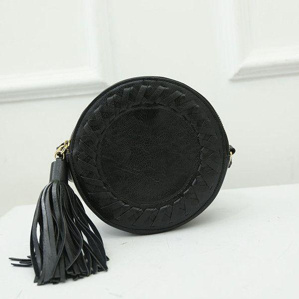 Round Women Tassel Bag Small Woven Crossbody Bags for Women Shoulder Bag Ladies Cute Knitting Circular Messenger Bags Summer 528