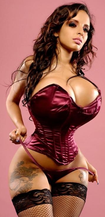 in corset tits Big