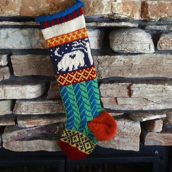 Knit Christmas Stocking Personalized Christmas Stockings   Knit ...