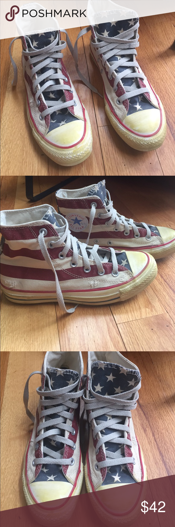 85b907d04058 Converse vintage American flag star stripes 7 Pre owned pair of Converse  chuck taylor American flag