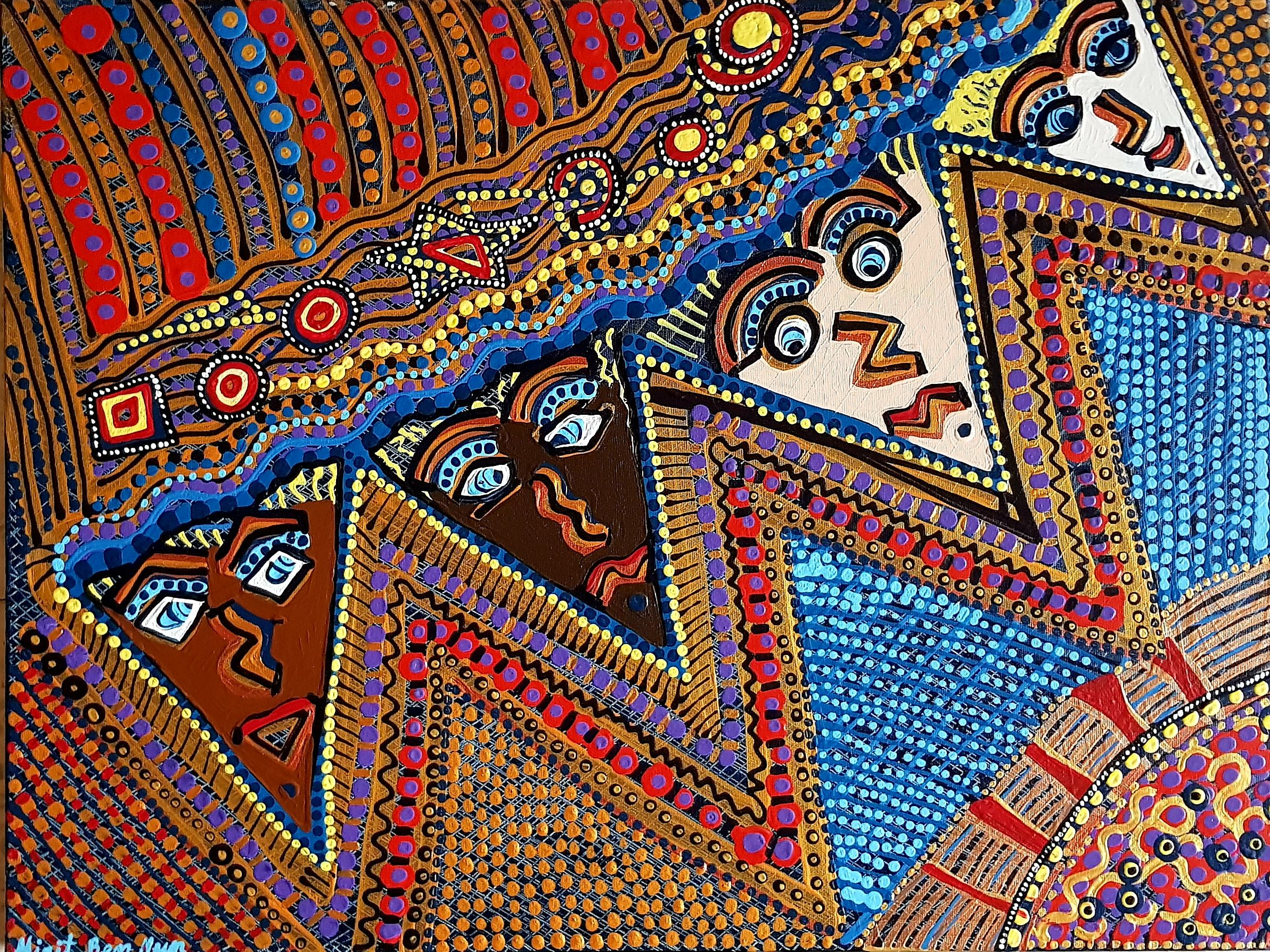 woman woman jewish painter paintings israeli art original