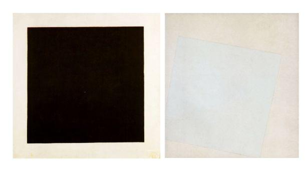 El Arte De Kazimir Malevich A La Izquierda Cuadrado Negro Sobre