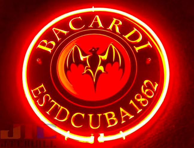 Neon Bacardi Sign Prop | Neon, Bacardi, Neon signs
