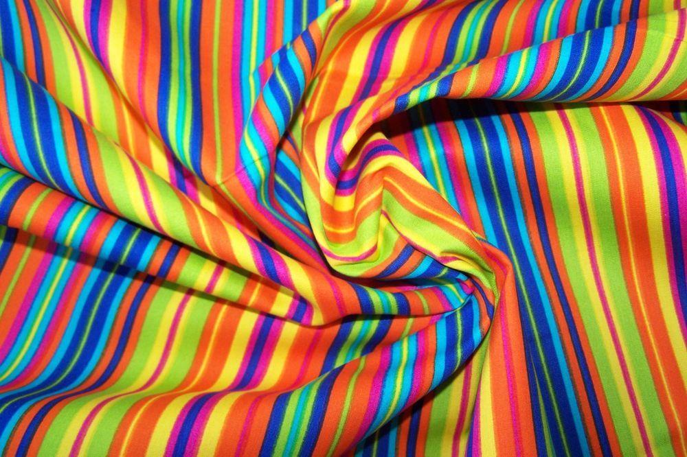 1m x 150m Dekostoff Patchwork Streifen Ringel farbenmix J.Swafing Baumwollstoff