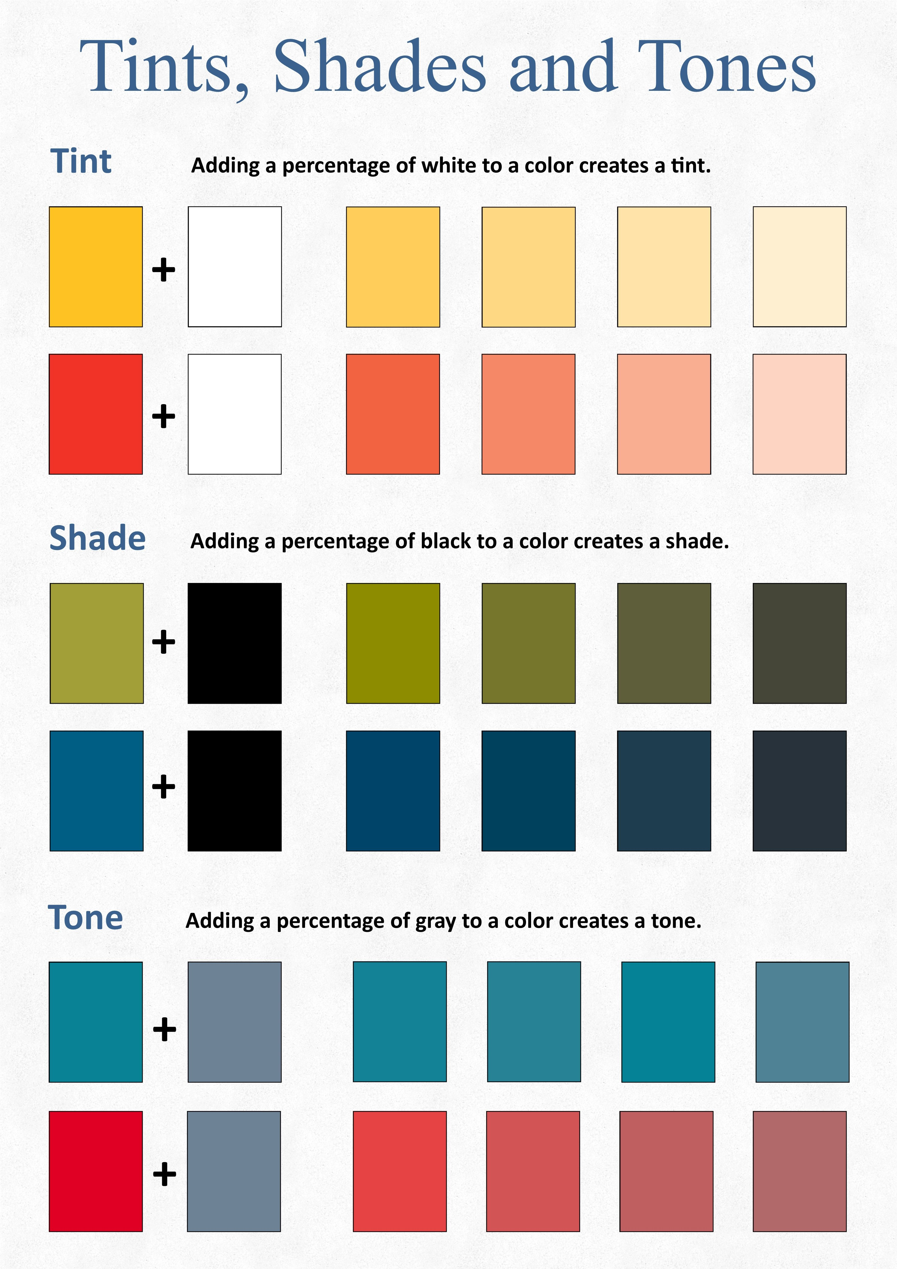 Tints Shades And Tones Visual Art Color Theory Home