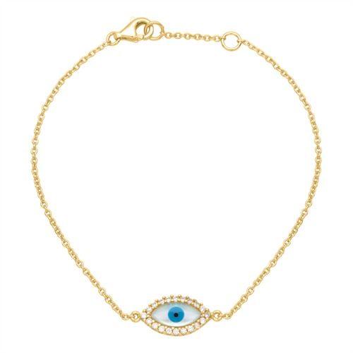 925 Silber Armband vergoldet Zirkonia SB0200 http://www.thejewellershop.com/ #armband #bracelet #thejeweller #unique #silber #zirkonia