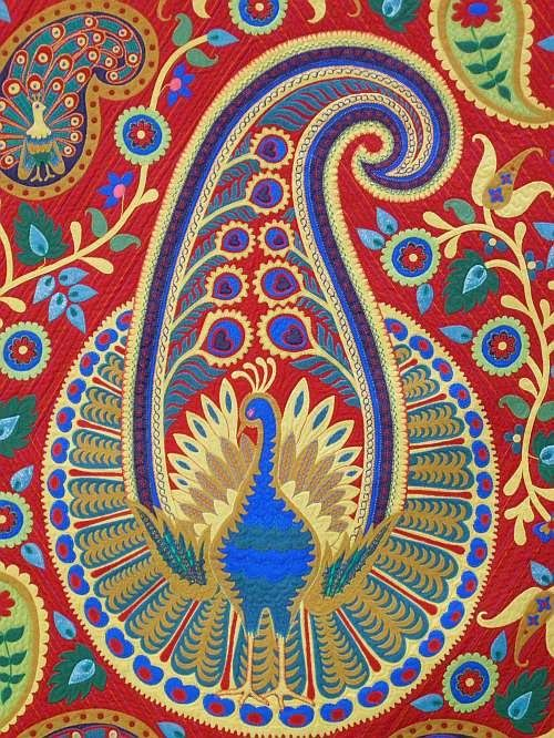 Paisley Peacock - detail use for a Pysanky Egg design?