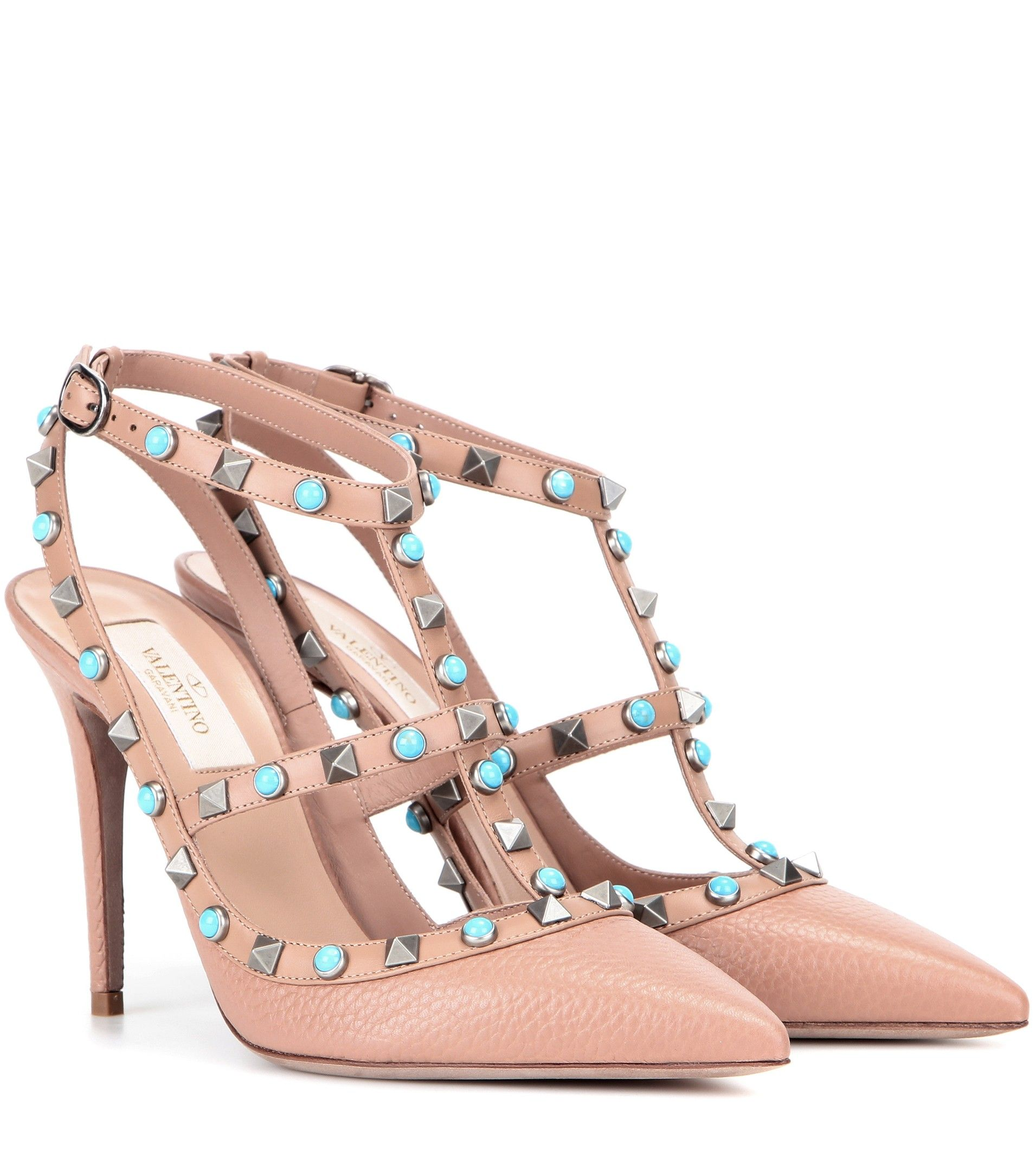mytheresa com Rockstud Rolling leather pumps Luxury Fashion for Women / Designer clothing