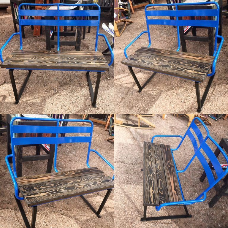 Stupendous Repurposed Ski Chairlift Seat Benches Repurposed Ski Caraccident5 Cool Chair Designs And Ideas Caraccident5Info