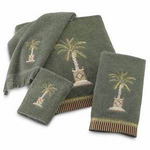 Palm Tree Bath Towels Palm Tree Quot Banana Palm Quot Towels Set