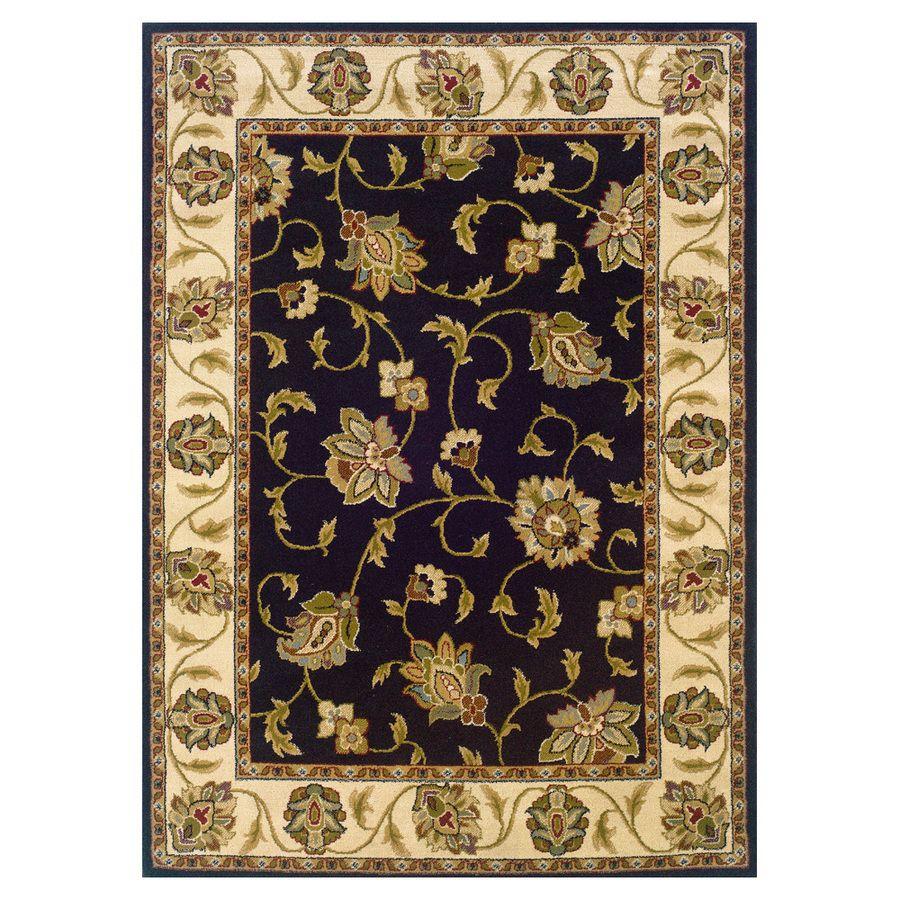 Oriental Weavers Of America Addison Black Rectangular Indoor Woven Nature Area Rug Common 8 X 11 Actual 92 In W 13