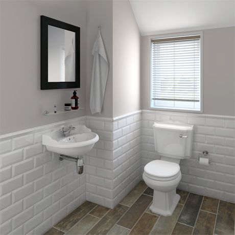 Oxford Cloakroom Suite With Basin Mixer Waste Chrome