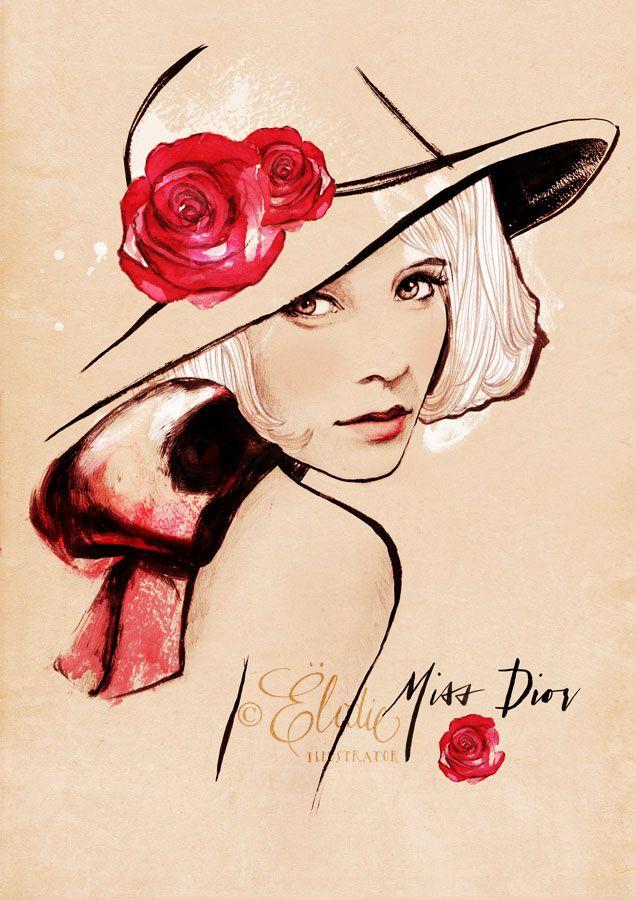 Fashion illustrations of Ëlodie Nadreau #Illustration | OLDSKULL.NET [ENGLISH]