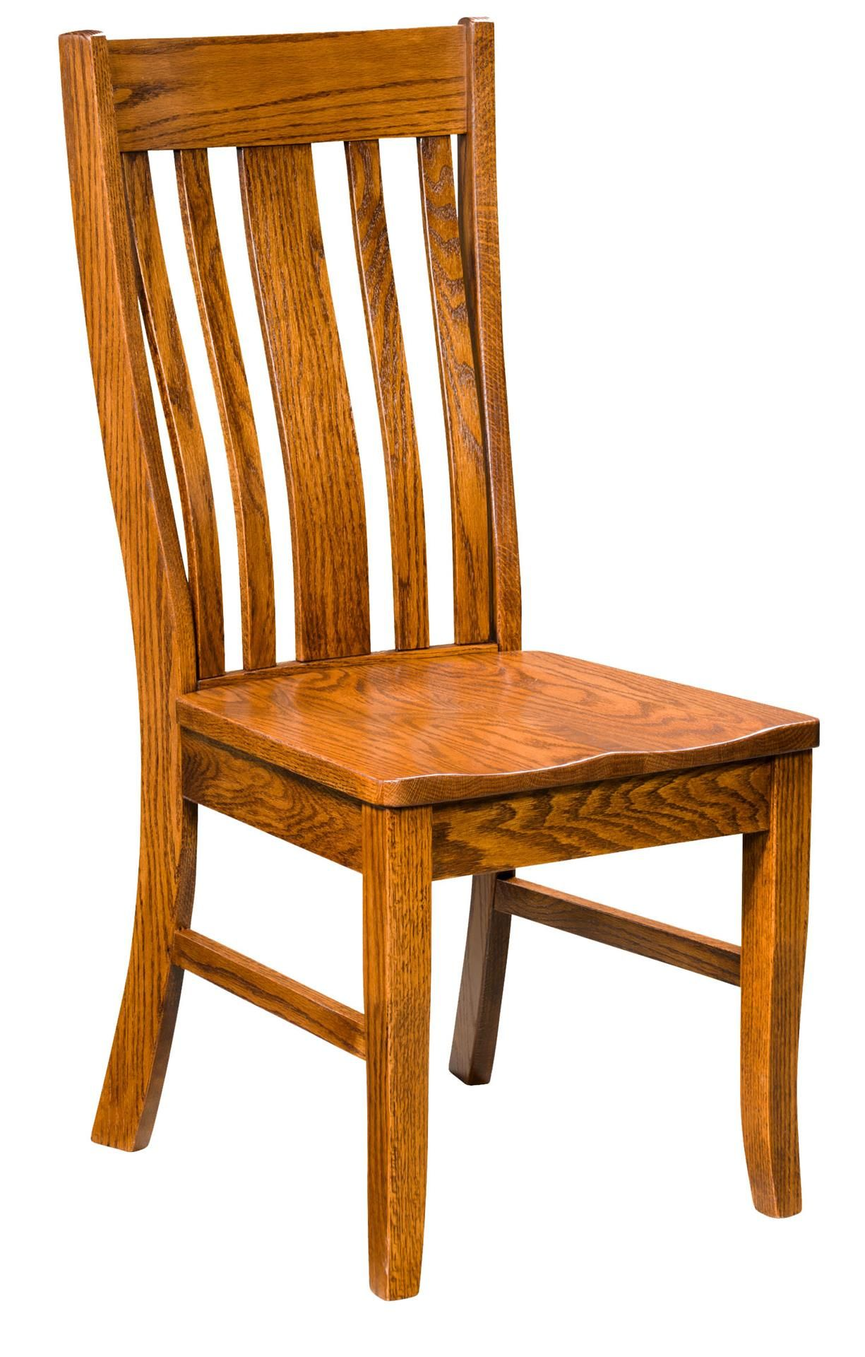 Amish Nostalgia Dining Chair Relax During Dinner In The Comfort Of This Mission Style Dining Chair Dining Chairs Chair Solid Wood Dining Room Chairs