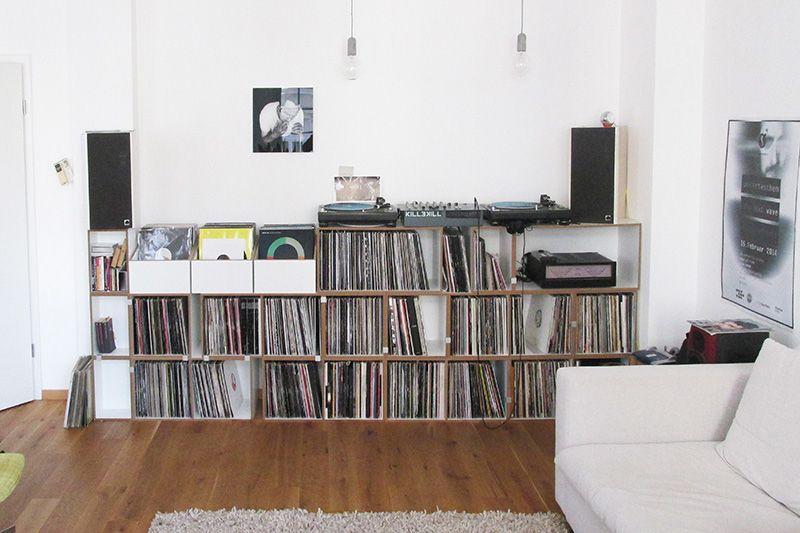 schallplattenregal mit lp box schallplattenregal stocubo - Schallplattenregal