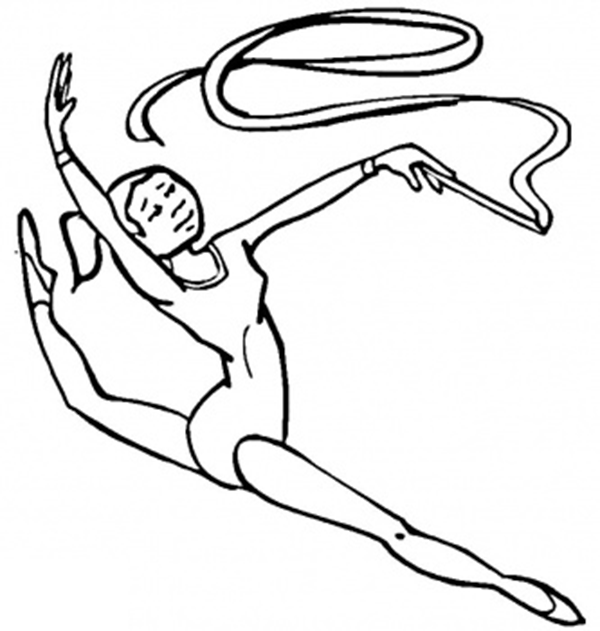I Love Gymnastics Coloring Pages | The Coloring pages | Pinterest ...