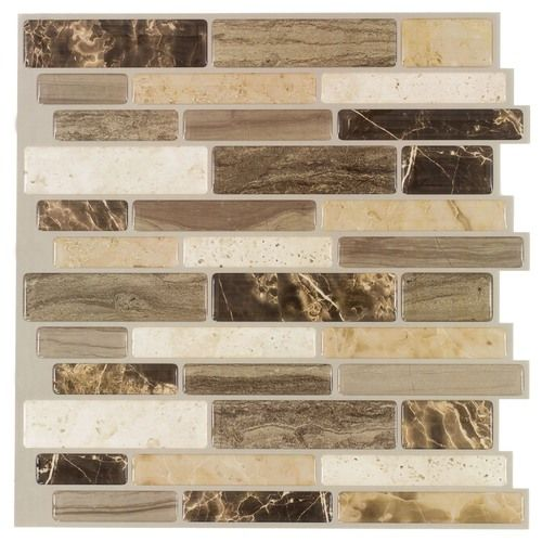 Italy Stone Peel Stick Wall Tile 5 Pack 3 3 Sq Ft Wall
