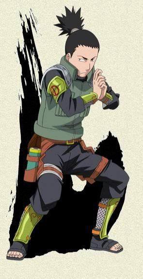 Shikamaru Nara (奈良シカマル, Nara Shikamaru) is a major supporting character of the series. He is a chūnin-level shinobi of Konohagakure's Nara clan and a member of Team Asuma. Along with his team-mates, he makes up the new generation of Ino–Shika–Chō, just like their fathers were before them.