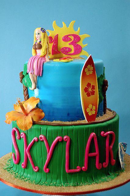Aloha Birthday Cake At H Bake Shop New York NY Birthdaycake Cakedecorating