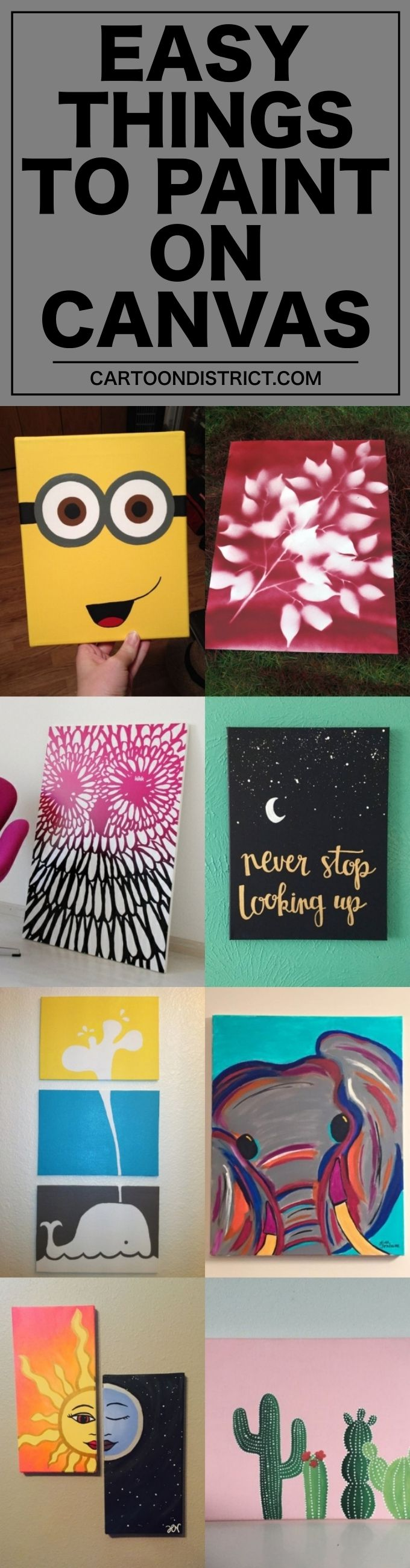 55 Very Easy Things To Paint On Canvas With Images Easy