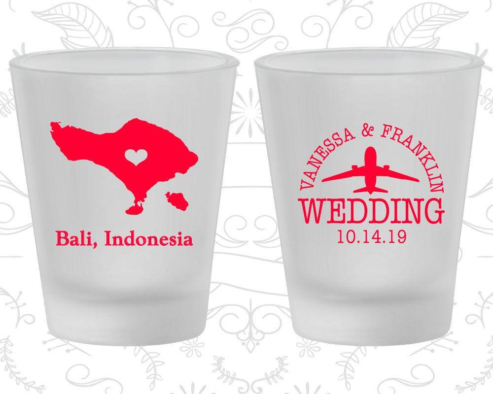 Indonesia Wedding, Wedding Favor Frosted Shot Glasses, Destination ...