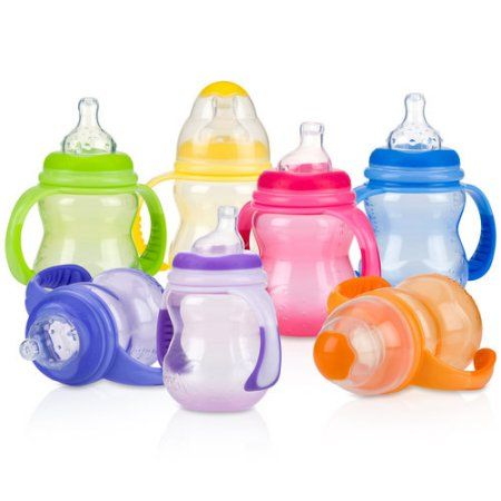 Nuby Stackable Bowls and Lids Baby Travel Spill Proof Food Storage Container 4PK Babyvoeding