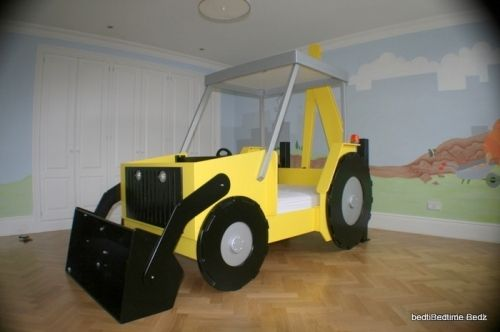 digger bed | Yellow bedding, Boys bedding, Theme beds