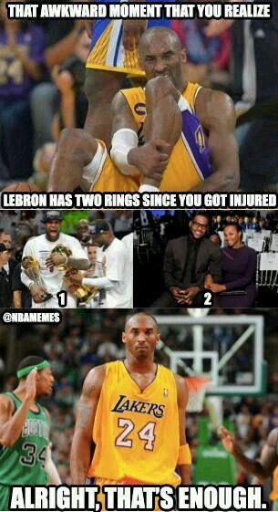 Kobe Alright That S Enough Kobe Bryant Memes Funny Basketball Memes Basketball Memes