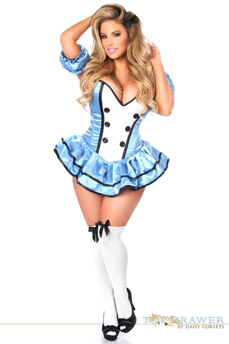 top drawer premium alice corset dress costume - Corsets Halloween Costumes