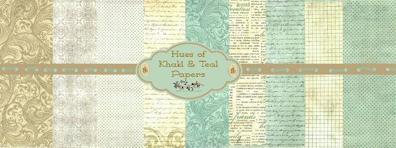 Khaki and Teal Papers